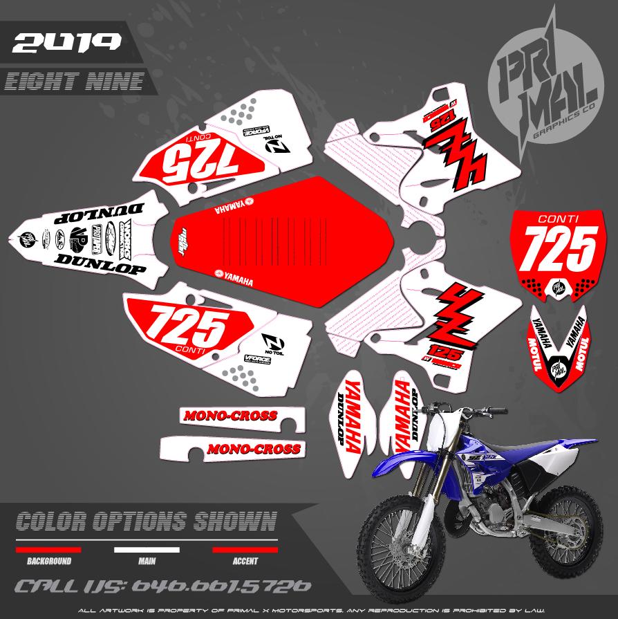 YAMAHA YZ125 YZ250 RETRO PLASTICS MOTOCROSS GRAPHICS ATV MX GRAPHICS PRIMAL X MOTORSPORTS PRIMAL GFX CO BIKELIFE
