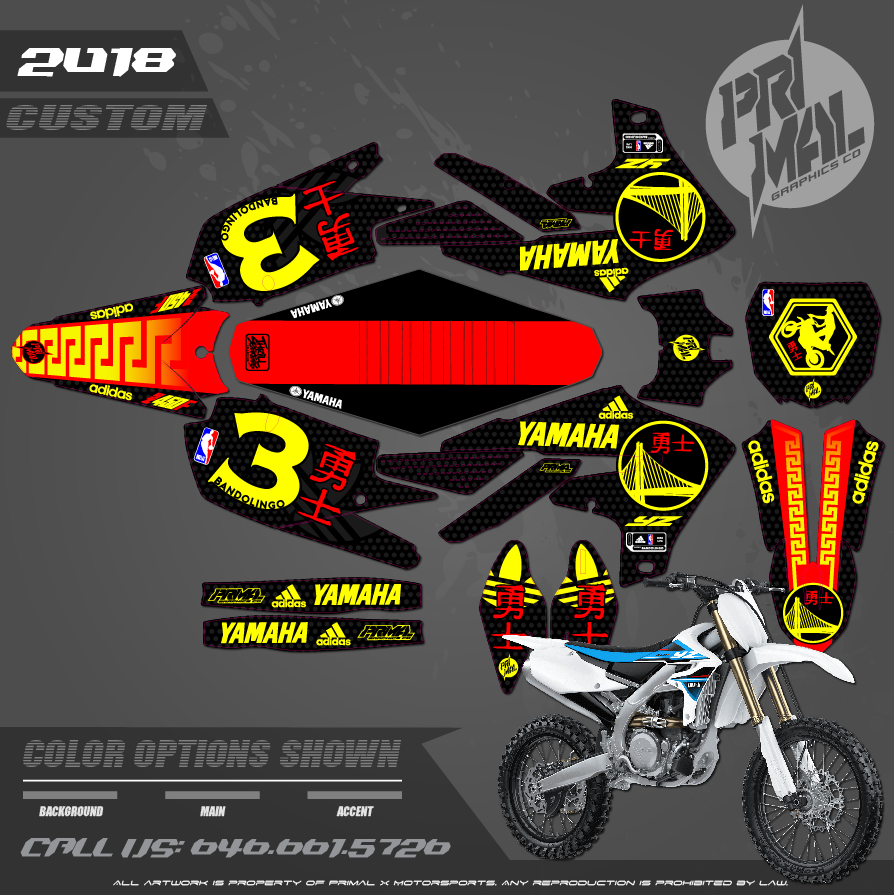 YAMAHA YZ250F YZ450F CHINESE NEW YEAR CUSTOM MOTOCROSS GRAPHICS ATV MX GRAPHICS PRIMAL X MOTORSPORTS PRIMAL GFX CO BIKELIFE