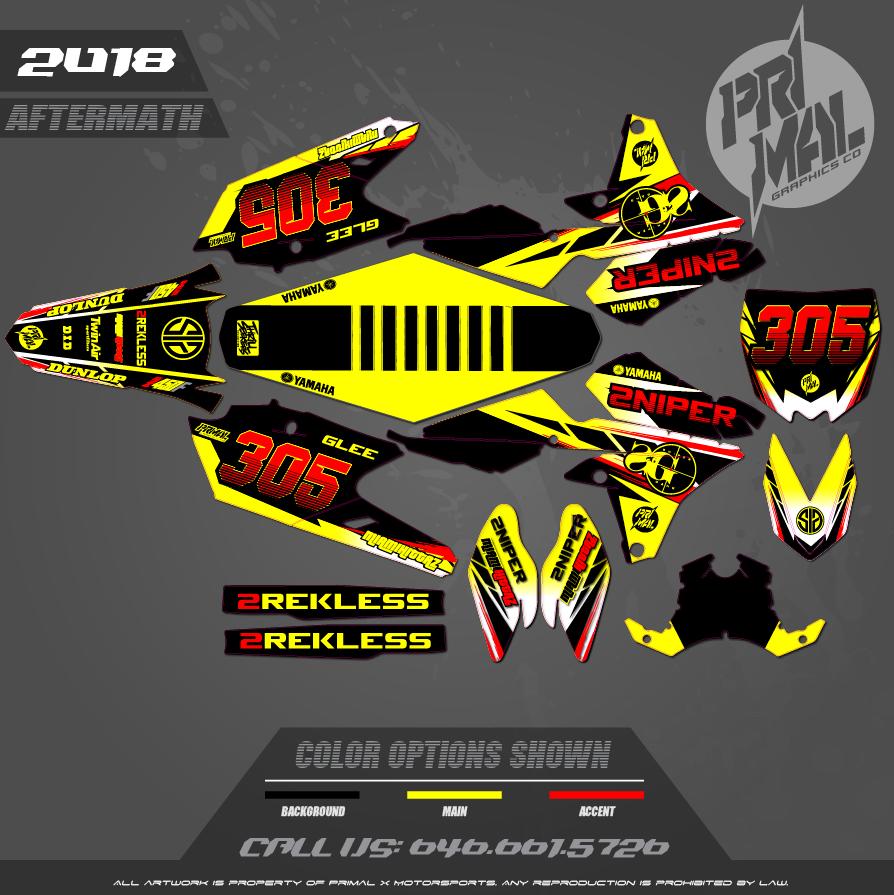 YAMAHA YZ250F YZ450F MX GRAPHICS MOTOCROSS GRAPHICS ATV MX GRAPHICS PRIMAL X MOTORSPORTS AFTERMATH SERIES 3