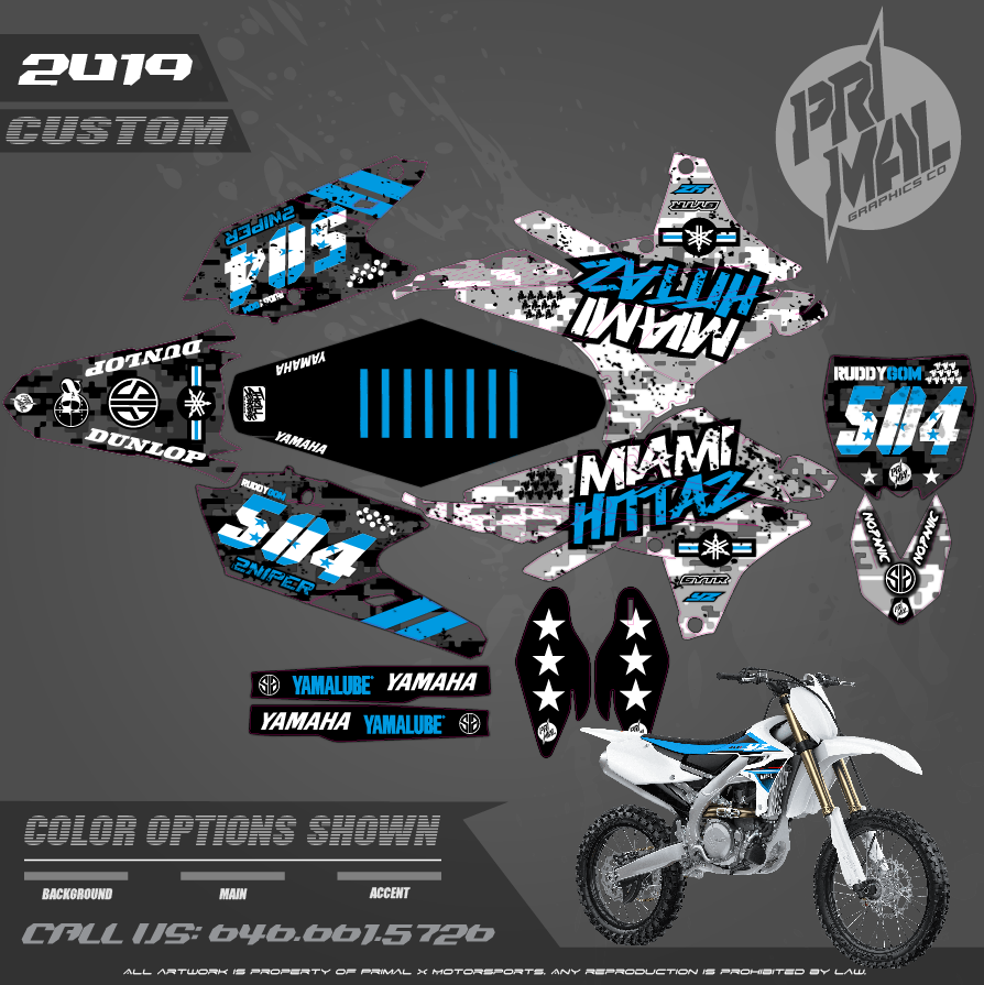 YAMAHA YZ450F HONDURAS SERIES MOTOCROSS GRAPHICS ATV MX GRAPHICS PRIMAL X MOTORSPORTS PRIMAL GFX CO BIKELIFE