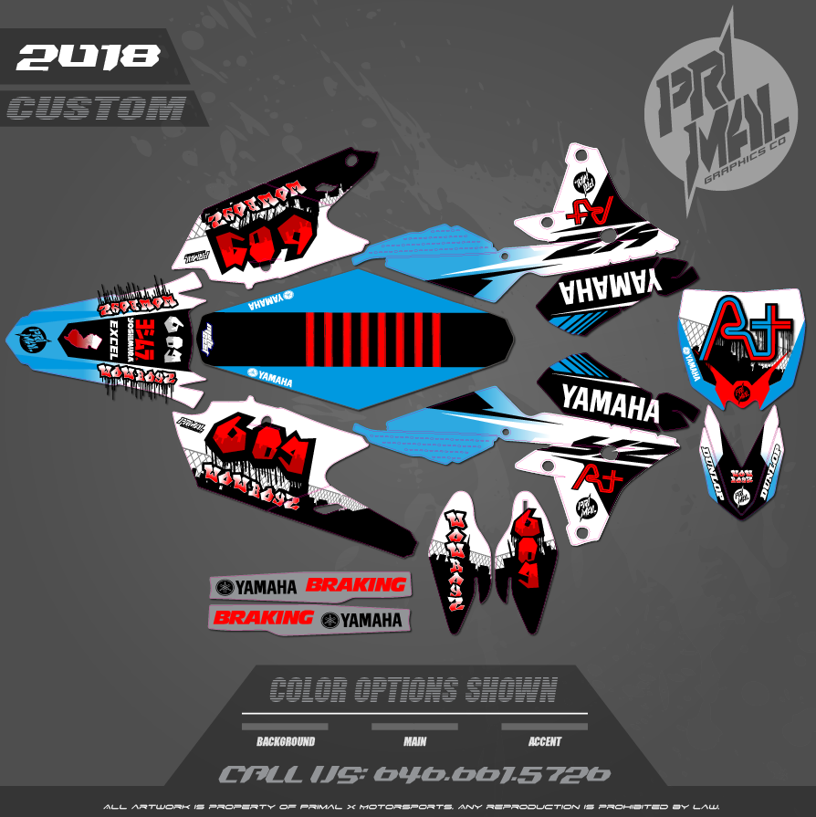 YAMAHA YZF450 CUSTOM GRAPHICS MOTOCROSS GRAPHICS ATV MX GRAPHICS PRIMAL X MOTORSPORTS JERSEY BIKELIFE