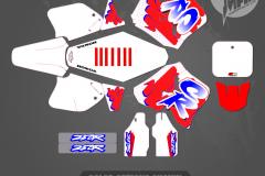 1992 1993 1994 1995  CUSTOM MOTOCROSS GRAPHICS ATV MX GRAPHICS PRIMAL X MOTORSPORTS RETRO CR250 HONDA CR125 90s