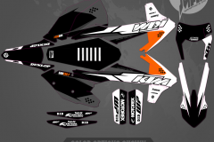 2018 KTM SXF EXC CUSTOM MOTOCROSS GRAPHICS ATV MX GRAPHICS PRIMAL X MOTORSPORTS ION SERIES PRINE
