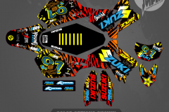 DRZ400SM CUSTOM MOTOCROSS GRAPHICS ATV MX GRAPHICS PRIMAL X MOTORSPORTS CUSTOM 2
