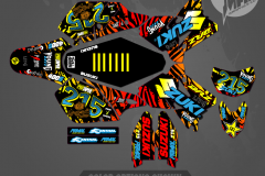 DRZ400SM CUSTOM MOTOCROSS GRAPHICS ATV MX GRAPHICS PRIMAL X MOTORSPORTS CUSTOM 215