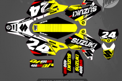 DRZ400SM CUSTOM MOTOCROSS GRAPHICS ATV MX GRAPHICS PRIMAL X MOTORSPORTS CUSTOM BLITZ