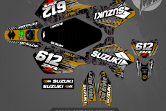 DRZ400SM CUSTOM MOTOCROSS GRAPHICS ATV MX GRAPHICS PRIMAL X MOTORSPORTS CUSTOM DIAZ