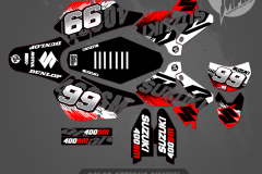 DRZ400SM CUSTOM MOTOCROSS GRAPHICS ATV MX GRAPHICS PRIMAL X MOTORSPORTS CUSTOM SHRED CHAPMAN