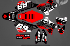 DRZ400SM CUSTOM MOTOCROSS GRAPHICS ATV MX GRAPHICS PRIMAL X MOTORSPORTS CUSTOM SHRED SERIES BIKELIFE