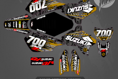 DRZ400SM CUSTOM MOTOCROSS GRAPHICS ATV MX GRAPHICS PRIMAL X MOTORSPORTS CUSTOM STREET STYLE