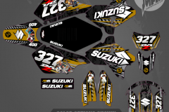 DRZ400SM CUSTOM MOTOCROSS GRAPHICS ATV MX GRAPHICS PRIMAL X MOTORSPORTS CUSTOM TRUST NO 1