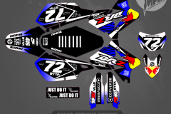 DRZ400SM CUSTOM MOTOCROSS GRAPHICS ATV MX GRAPHICS PRIMAL X MOTORSPORTS SHIFT SERIES BIKELIFE CA 2
