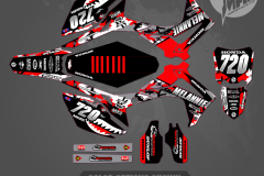HONDAS CRF450R CUSTOM MOTOCROSS GRAPHICS ATV MX GRAPHICS PRIMAL X MOTORSPORTS CUSTOM WARBIRD