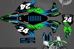 KAWASAKI KX250F CUSTOM MOTOCROSS GRAPHICS ATV MX GRAPHICS PRIMAL X MOTORSPORTS BIKELIFE RAMPAGE