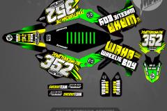 KAWASAKI RAMPAGE SERIES GRAPHICS MOTOCROSS GRAPHICS ATV MX GRAPHICS PRIMAL X MOTORSPORTS FLORIDA BIKELIFE KX450 KX125 KX250