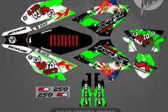 KLX250 CUSTOM MOTOCROSS GRAPHICS ATV MX GRAPHICS PRIMAL X MOTORSPORTS SERIES DRAGON