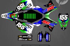 KX450F MOTOCROSS GRAPHICS ATV MX GRAPHICS PRIMAL X MOTORSPORTS ATV GRAPHICS REV KAWASAKI 2013