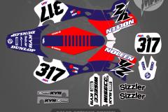NOLEEN YZ250 GRAPHICS MOTOCROSS GRAPHICS ATV MX GRAPHICS PRIMAL X MOTORSPORTS RETRO 1993 1994 1995 YZ125 YZ250