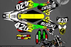 SUZUKI DRZ400SM CUSTOM MOTOCROSS GRAPHICS ATV MX GRAPHICS PRIMAL X MOTORSPORTS 420