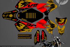 SUZUKI DRZ400SM CUSTOM MOTOCROSS GRAPHICS ATV MX GRAPHICS PRIMAL X MOTORSPORTS ION