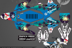 YAMAHA YZF450 ST MARTEEN SERIES MOTOCROSS GRAPHICS ATV MX GRAPHICS PRIMAL X MOTORSPORTS PRIMAL GFX CO BIKELIFE