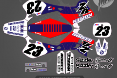 YZ250 REPLICA CUSTOM MOTOCROSS GRAPHICS ATV MX GRAPHICS PRIMAL X MOTORSPORTS