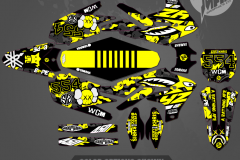 YZ450F CUSTOM MOTOCROSS GRAPHICS ATV MX GRAPHICS PRIMAL X MOTORSPORTS CUSTOM APE SERIES