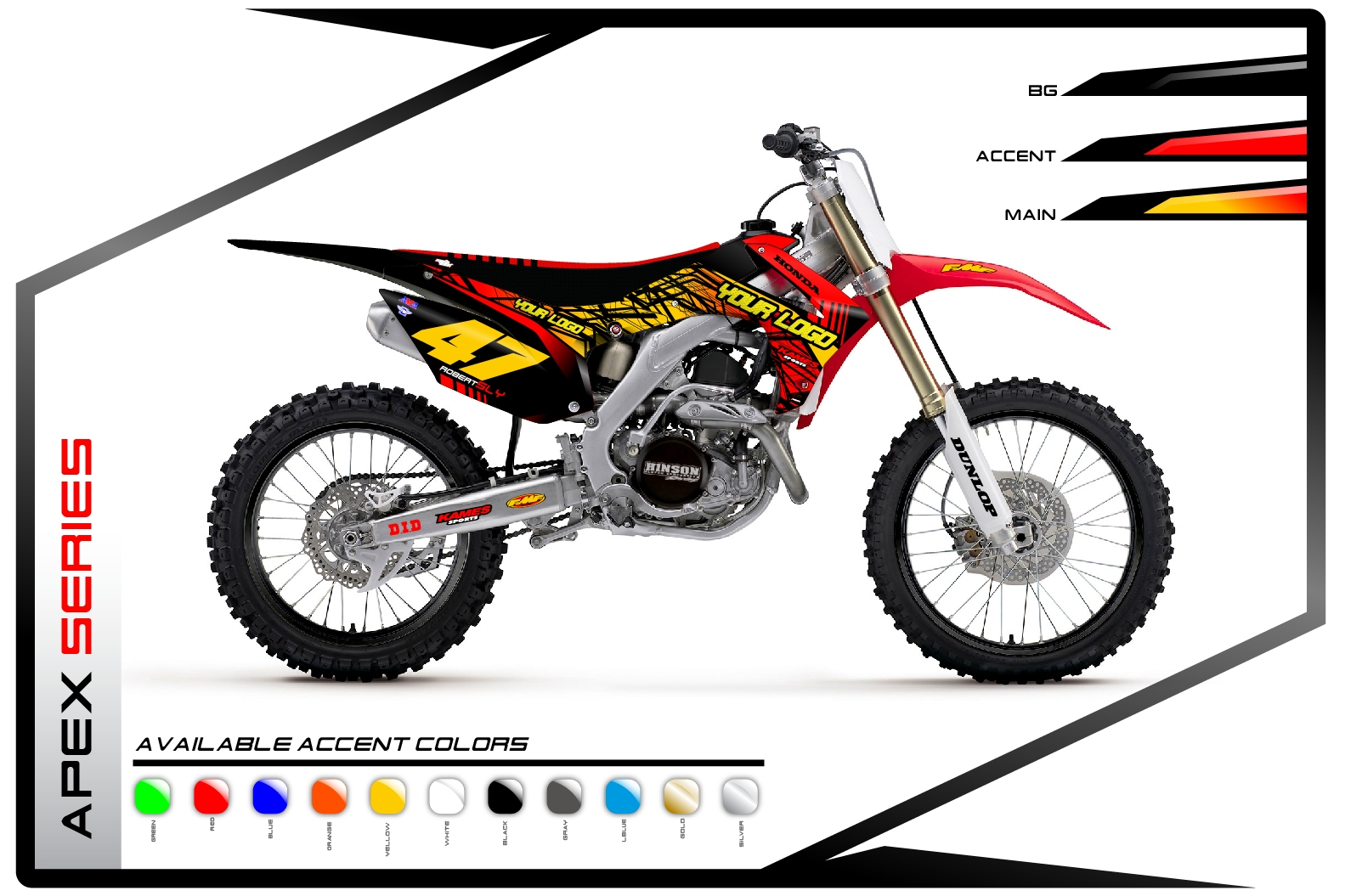 Primal X Motorsports MX Graphics Honda Apex Series