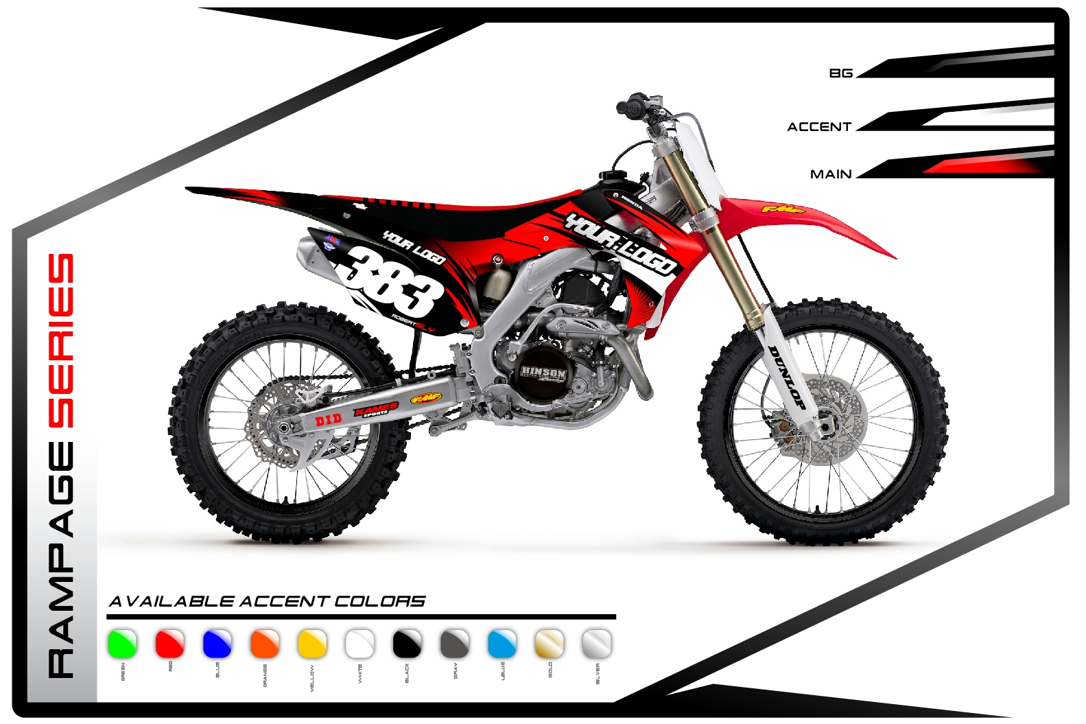 Primal X Motorsports MX Graphics Honda Rampage Series