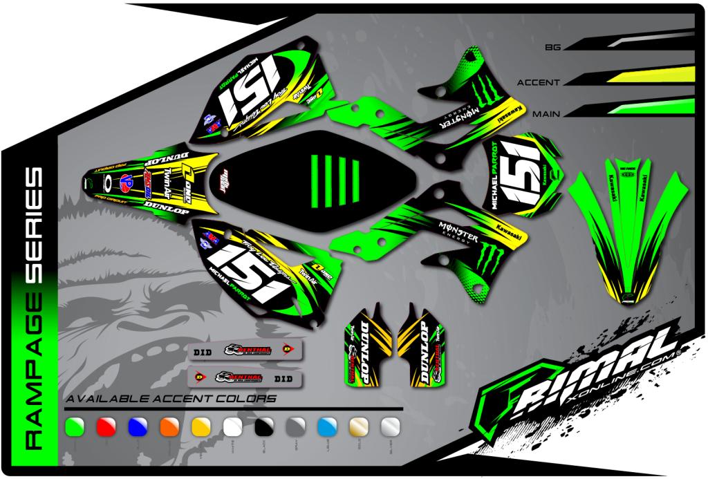 Primal X Motorsports MX Graphics KXF 450 KXF 250 Rampage Series