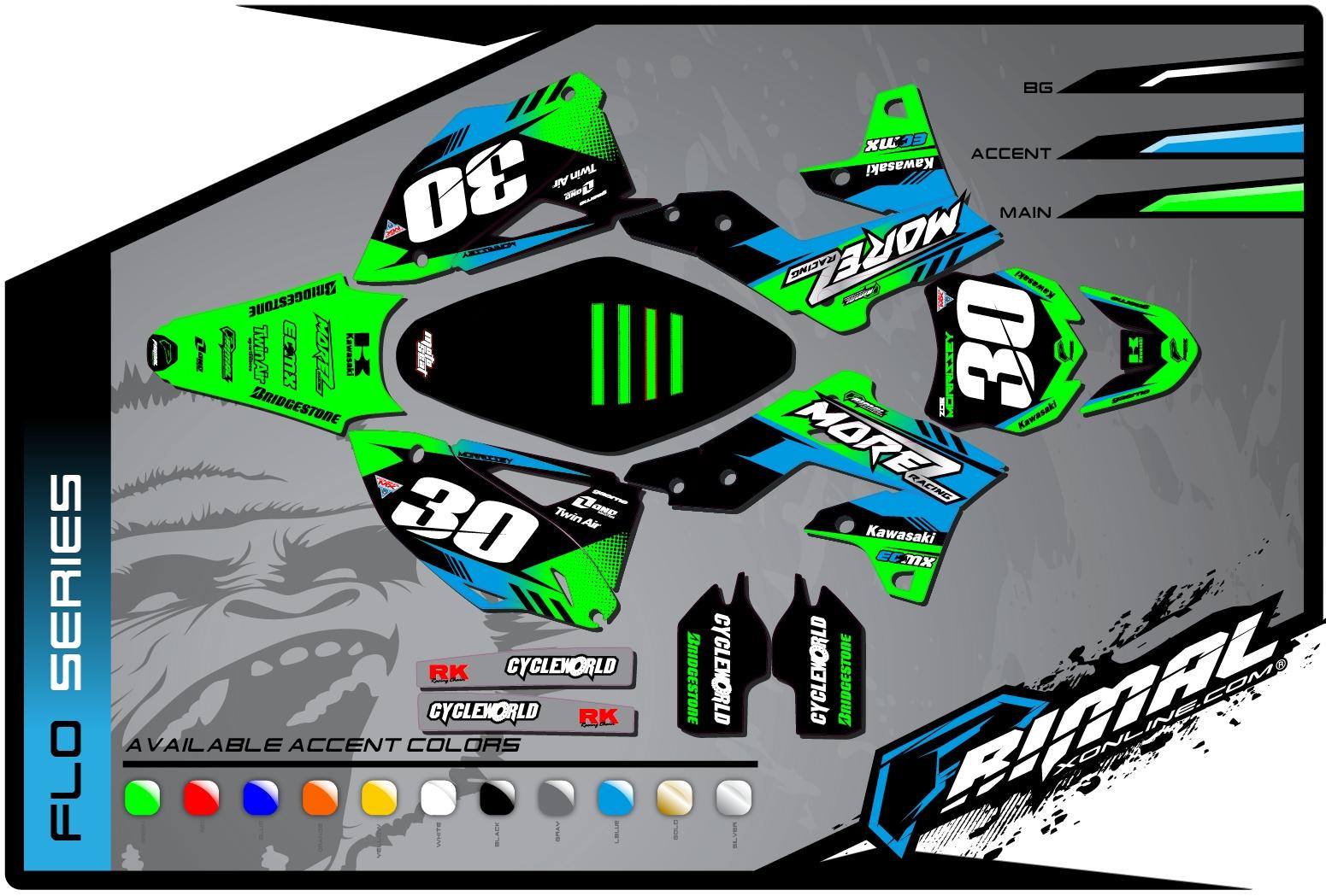 Motocross Graphics Kawasaki KXF