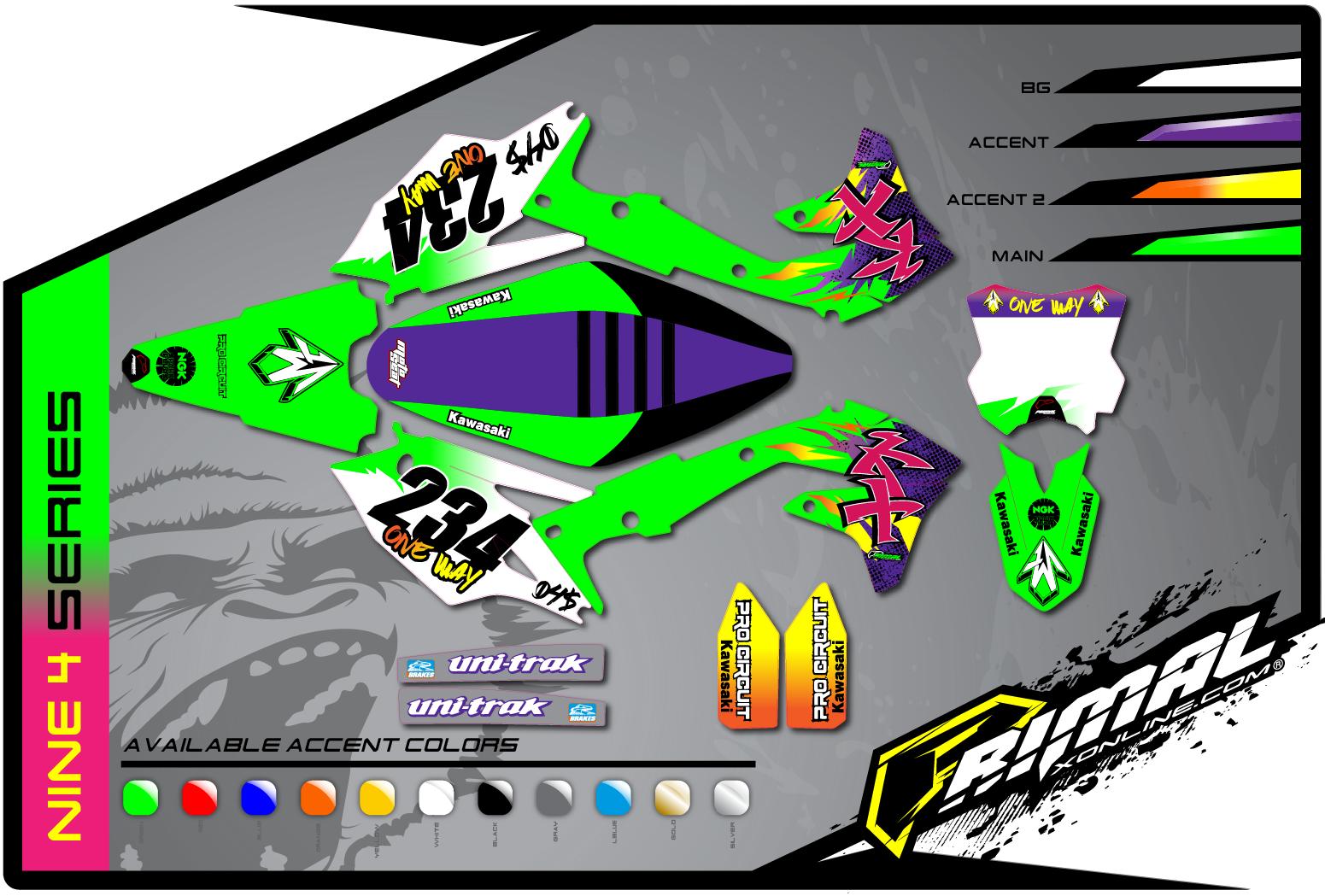 Retro Kawasaki Graphics