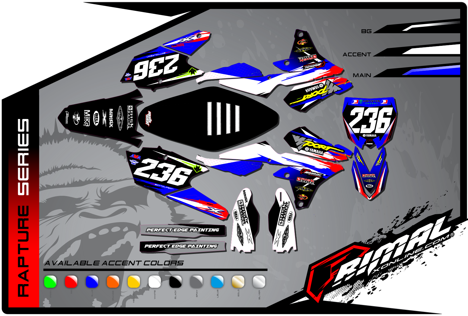 Primal X Motorsports MX Graphics YZF450 250 rapture series