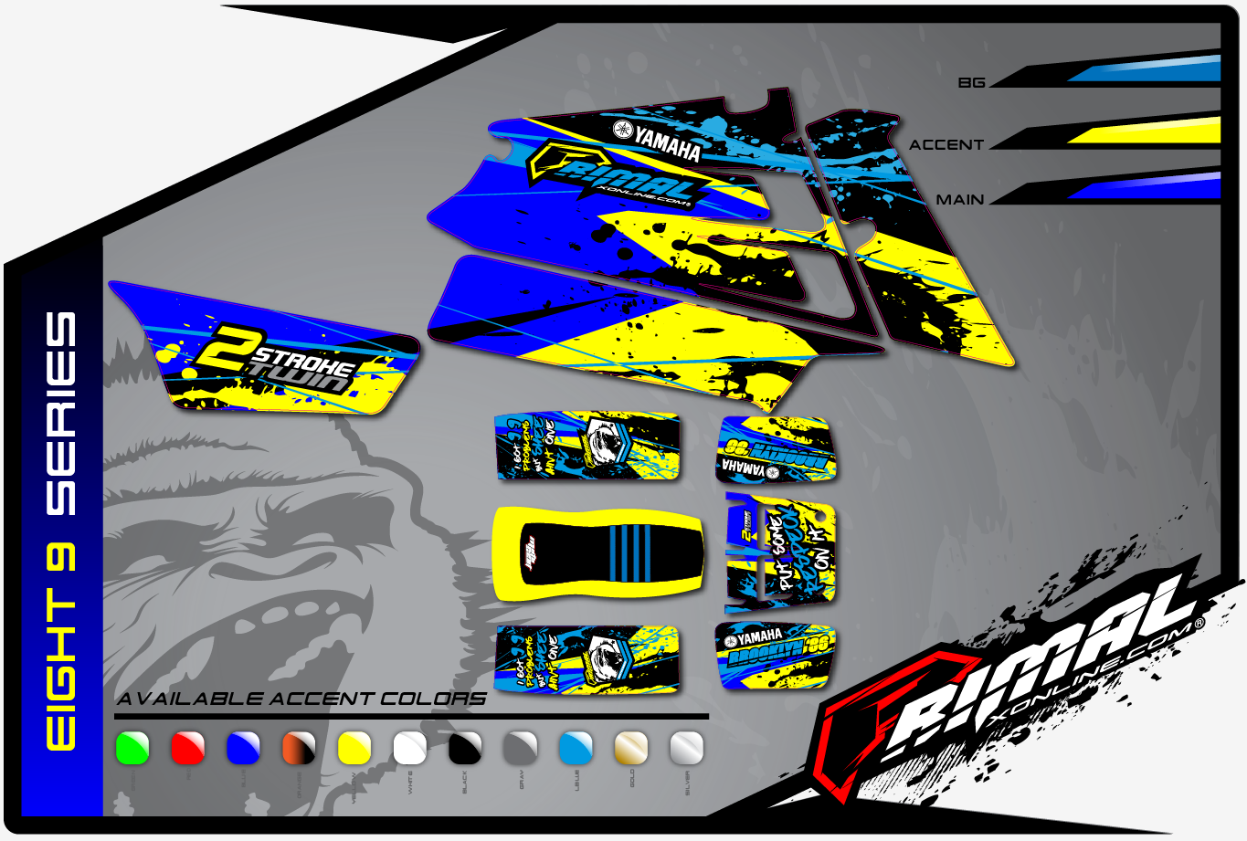 YAMAHA BANSHEE GRAPHICS PRIMAL X MX GRAPHICS BIKELIFE GRAPHICS DRZ (Eight 9 SERIES)