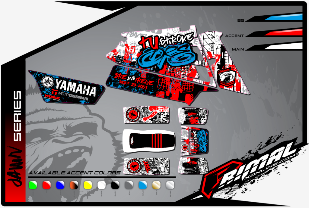 YAMAHA BANSHEE GRAPHICS PRIMAL X MX GRAPHICS BIKELIFE GRAPHICS DRZ (JAWN SERIES)