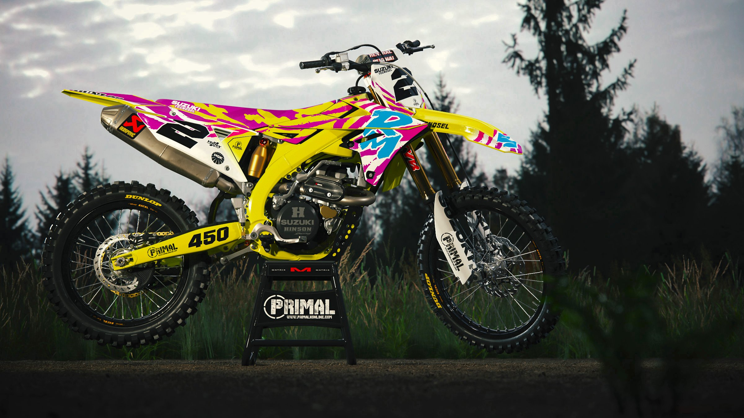 1992 RM Retro Mx Graphics Motocross Primal X Motorsports