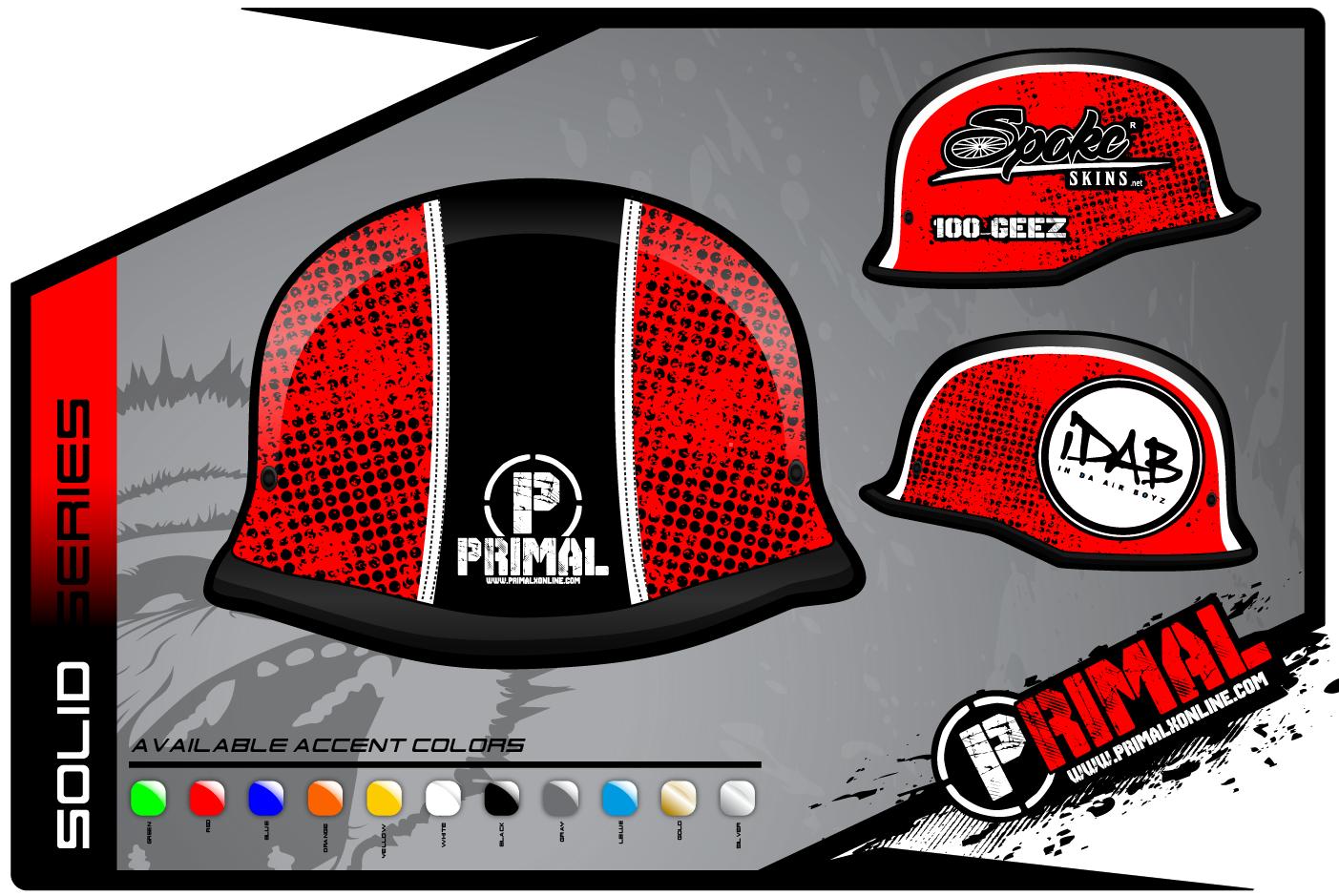 Solid Series Helmet With Wrap Primal X Motorsports Motocross