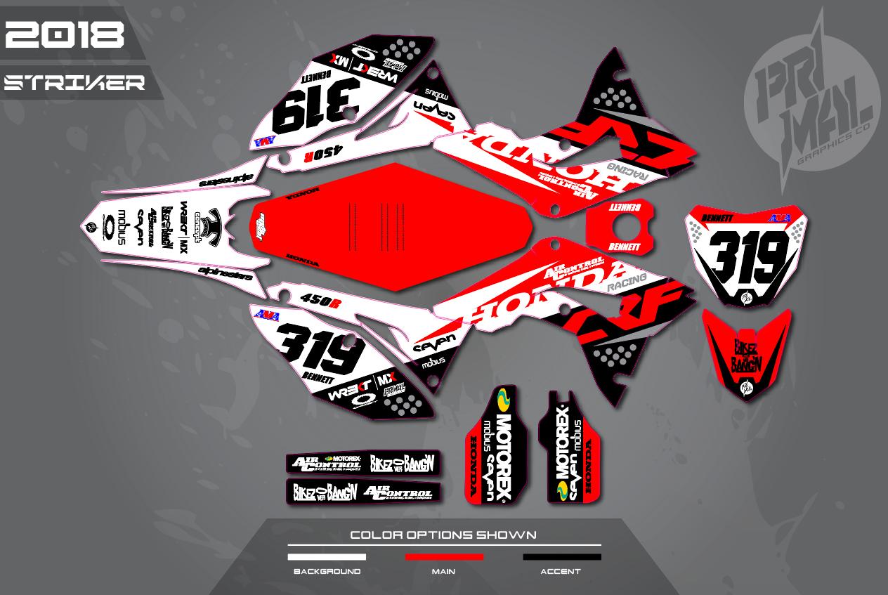 Honda Crf 450 Custom Graphics Kit ✓ Satu Sticker