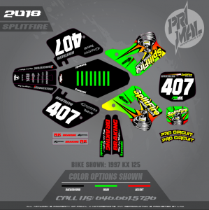 1994 -1998 KAWASAKI KX SPLITFIRE THEME MOTOCROSS GRAPHICS ATV MX GRAPHICS PRIMAL X MOTORSPORTS (1)