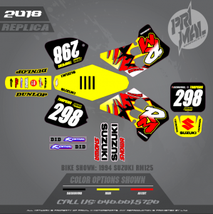 1994 SUZUKI RM REPLICA THEME MOTOCROSS GRAPHICS ATV MX GRAPHICS PRIMAL X MOTORSPORTS (1)