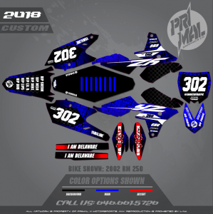 2018 YZ250F MOTOCROSS GRAPHICS ATV MX GRAPHICS PRIMAL X MOTORSPORTS SMOKE IN TRAFFIC