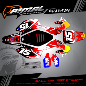 CR250 MX GRAPHICS PRIMAL X MOTORSPORTS BIKELIFE MX DECALS MOTOCROSS SPARTAN SERIES