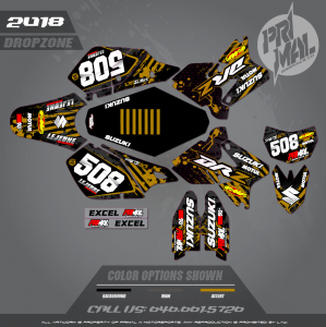 DRZ400SM CUSTOM MOTOCROSS GRAPHICS ATV MX GRAPHICS PRIMAL X MOTORSPORTS DROPZONE SERIES