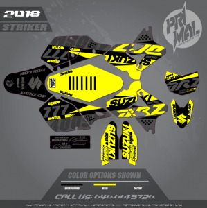 DRZ400SM CUSTOM MOTOCROSS GRAPHICS ATV MX GRAPHICS PRIMAL X MOTORSPORTS STRIKER SERIES