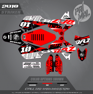 DRZ400SM CUSTOM MOTOCROSS GRAPHICS ATV MX GRAPHICS PRIMAL X MOTORSPORTS STRIKER SERIES 2