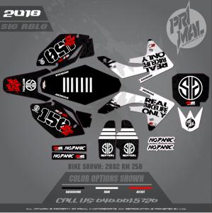 HONDA CRF150R SIG EDITION MOTOCROSS GRAPHICS ATV MX GRAPHICS PRIMAL X MOTORSPORTS - REAL BIKELIFE ONLY