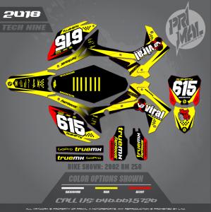 HONDA CRF250R TECH NINE MOTOCROSS GRAPHICS ATV MX GRAPHICS PRIMAL X MOTORSPORTS