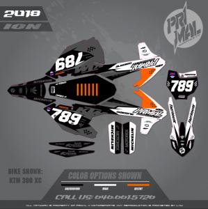 KTM 300 XC MOTOCROSS GRAPHICS ATV MX GRAPHICS PRIMAL X MOTORSPORTS ION SERIES - DREW