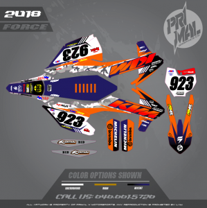 KTM SXF EXC CUSTOM MOTOCROSS GRAPHICS ATV MX GRAPHICS PRIMAL X MOTORSPORTS FORCE (1)