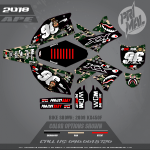 KX450F MOTOCROSS GRAPHICS ATV MX GRAPHICS PRIMAL X MOTORSPORTS APE BIKELIFE (1)